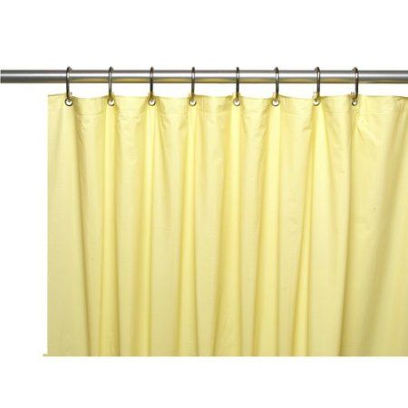 Premium 4 Gauge Vinyl Shower Curtain Liner W Weighted Magnets And