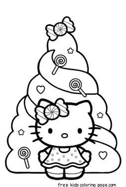 Christmas Hello Kitty Coloring Pages Free Print Hello Kitty Coloring Hello Kitty Colouring Pages Hello Kitty Drawing
