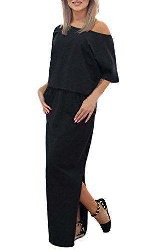 brand new 48d7e 8644e Donna Vestiti Lunghi Eleganti Estivi Donne Moda Con Spacco ...