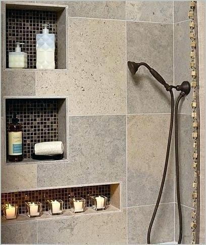 Builtin Shower Tile Insert Shelves Another Good Example Of Mosaics