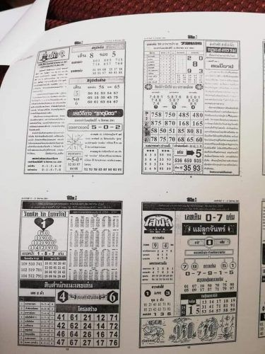 Thai Lottery First Paper 4Pc Magazine 16-8-2018 | Thai