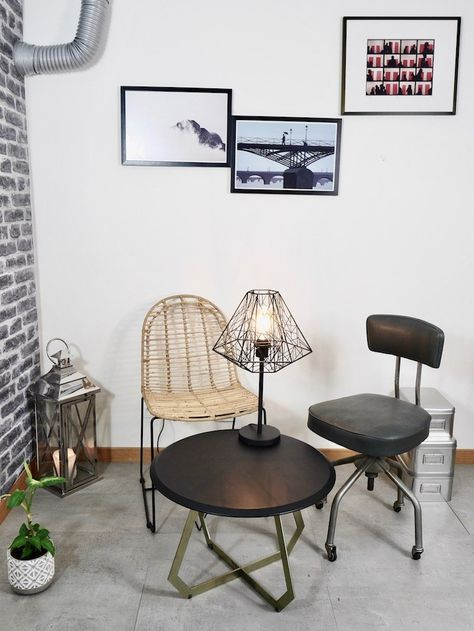 Salon Style Industriel Deco Pas Chere Et Rapide Ma