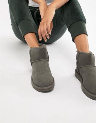 Image 1 Of Ugg Classic Mini Ii Grey Boots Ugg Classic Mini Ugg Boots Grey Boots