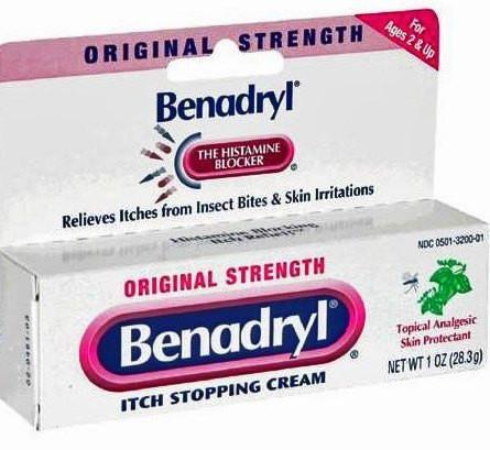 Benadryl Original Strength Itch Relief Cream Provides Effective