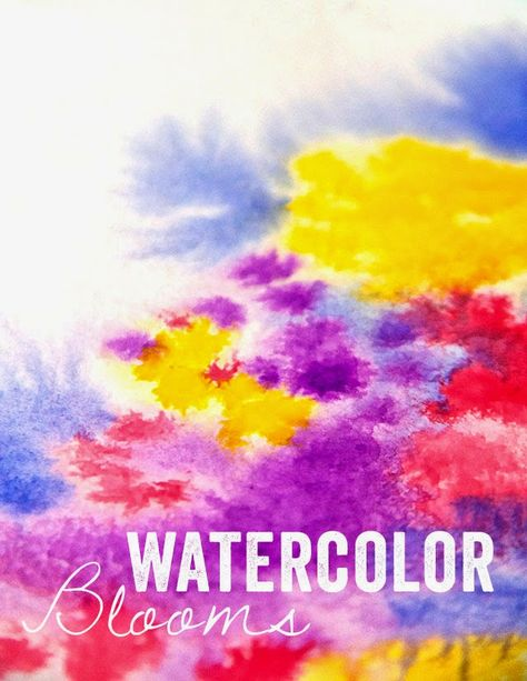 alisaburke: watercolor blooms: wet watercolor paper yields different effect