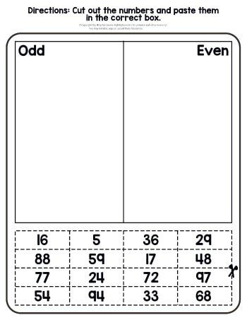 Odd And Even Numbers Worksheets 2nd Grade Math Worksheets