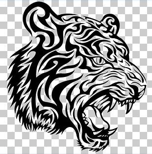 Tiger Tattoo Lion Png Clipart Animals Art Banner Big Cats Birthday Free Png Download In 2020 Tribal Tiger Tattoo Tiger Tattoo Design Tribal Tiger