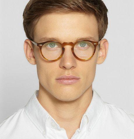 HAOYUXIANG Eine Retro-Brille Männer Und Frauen,GoldenColor