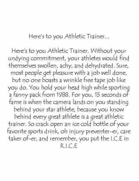 Athletic Trainer Athletic Training Pinterest Athletic - athletic training resume