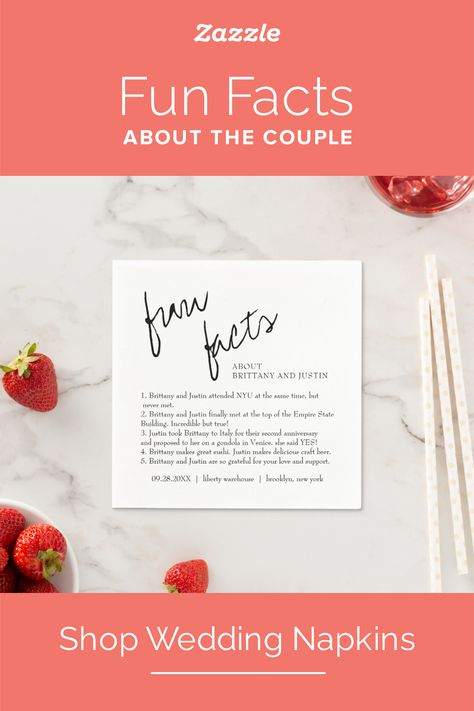 Custom Wedding Napkins - Zazzle