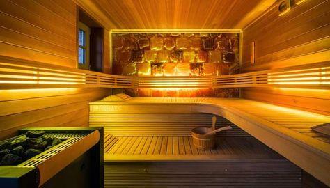 saunan lauteiden rakennus - Saunabank Konstruktion Sauna - schlichtes sauna design holz seeblick