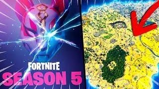 Saison 5 Nouveau Skin Et Nouvelle Map Sur Fortnite Battle Royale Fortnite Map Battle