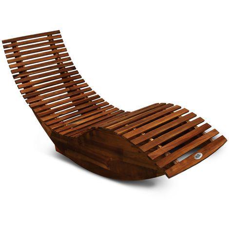 Deuba 2x Schwungliege Fsc Zertifiziertes Akazienholz Ergonomisch Wippfunktion Gartenliege Sonnenliege Relaxliege Saunaliege In 2020 Holzliege Gartenliege Relaxliege