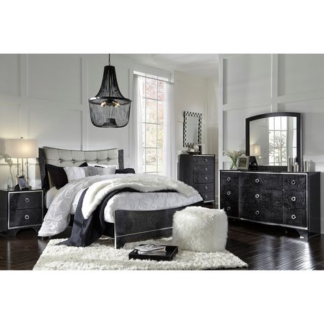 Ashley Amrothi Queen Bedroom Group, Brillaney Queen Panel Bed With Lights