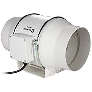 Honguan Blower Extractor Inline Fan Ventilator With Timer Delay 150m Kitchen Dining Heating Cooling Humidif Exhaust Fan Bathroom Ventilation Ventilation Fan
