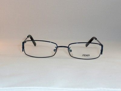 fendi f681r blue metal crystals womens eyeglass frame fendi glasses crystals and metals - Womens Metal Eyeglass Frames