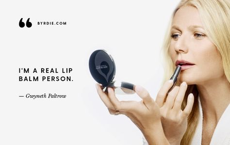 Gwyneth Paltrow on Feeling Bloated, Treating Pimples, and Her #1 Beauty Product via @ByrdieBeauty