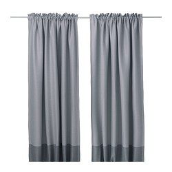 Maybe blackout curtains over white sheers??? IKEA - prevent most light from entering and provide privacy by blocking the view into the room from outside.Effective at keeping out both drafts in the winter and heat in the summer.The curtains can be used on a curtain rod or a curtain track.The heading tape makes it easy for you to create pleats using RIKTIG curtain hooks.You can hang the curtains on a curtain rod through the hidden tabs or with rings and hooks.