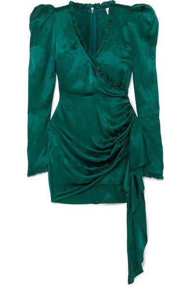 21e9303f99 Magda Butrym | Carlton wrap-effect ruffle-trimmed silk-satin ...