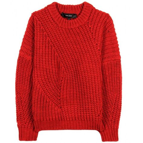 a968333eef4 Isabel Marant Theo Wool Pullover ( 450) ❤ liked on Polyvore featuring tops