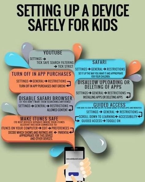 Setting up a device for a child