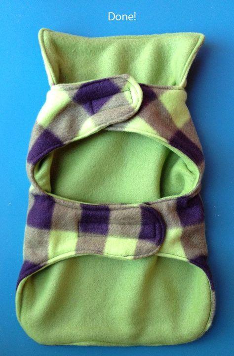 Cozy Fleece Dog Coat Tutorial     www.compulsivecraftiness.com