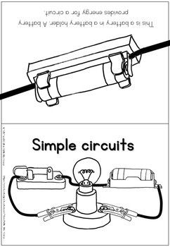 Electricity Simple Circuits Coloring Booklet Simple Circuit Circuit Booklet