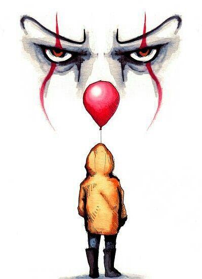 Pennywise Drawing By Lera Kiryakova Fan Art T Horror Art