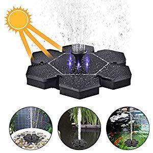 Zuji Solar Springbrunnen Pumpe Brunnen Garten Wasserpumpe Mit Led