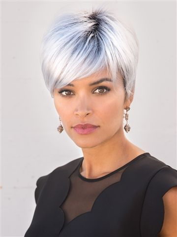 Long Fringe With A Spiky Top For An Edgy Fun Look Short Hair Styles Hair Styles Short Hair Styles Pixie