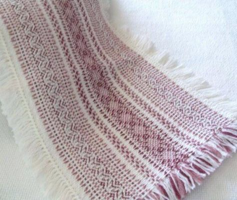 Sandra's Stitches design table runner. Swedish Weaving on Monk's cloth