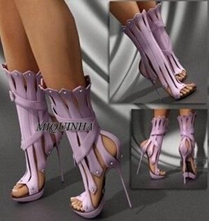 New Arrival Fashionable Women Summer Boots Sexy High Heels Platform Boots Cut-outs Shoes Woman Combat Boots Open Toe Botas Mujer(China (Mainland))