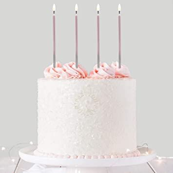 Extra Tall 18 Cm Metallic Candles Parties Birthdays Weddings