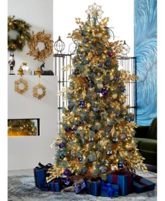 Holiday Lane Midnight Blue Collection Created For Macy S Reviews Christmas Ornaments Home Macy S In 2020 Blue Christmas Tree Decorations Blue Christmas Tree Blue Christmas Decor