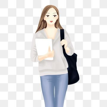 School Season School Starts Starting School Female College Student The University Going To College Character Png Transparent Clipart Image And Psd File For F College Students Student Clipart Girl Clipart