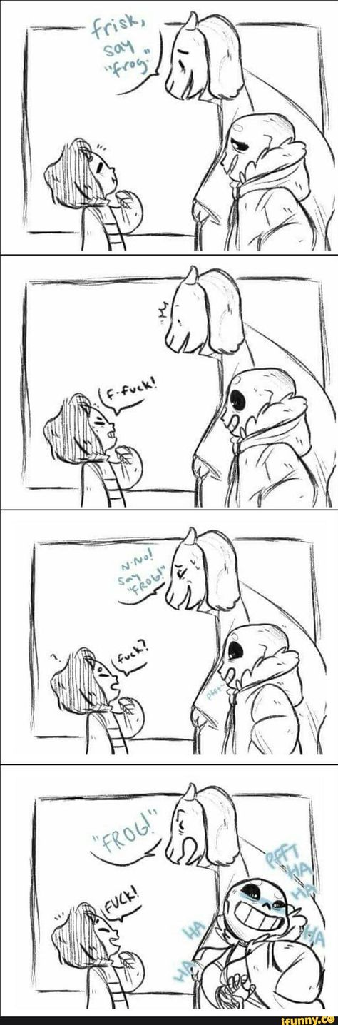 Undertale Comic- Frisk, Toriel and Sans.