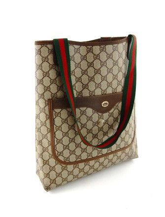 58fb09e6a Gucci Webby Vintage Gg Logo Leather Brown Canvas Shoulder Bag. Get one of  the hottest