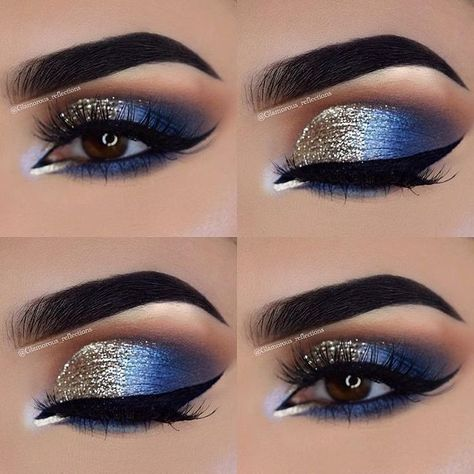 ✨ glam blue and gold eye #makeup... #Caramel #Cheesecake #Dip