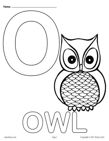 Letter O Alphabet Coloring Pages 3 Printable Versions Alphabet