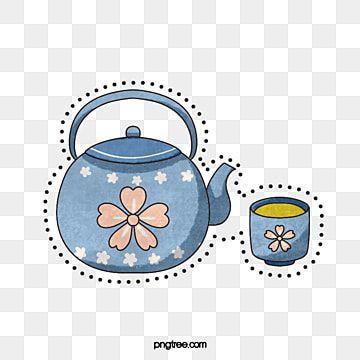 طقم شاي إبريق الكرز الأزرق فنجان إبريق أزرق الكونغ فو الشاي Png وملف Psd للتحميل مجانا Poster Background Design Tea Pots Tea Set