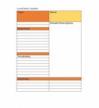 36 Cornell Notes Templates Examples Word Pdf ᐅ Cornell