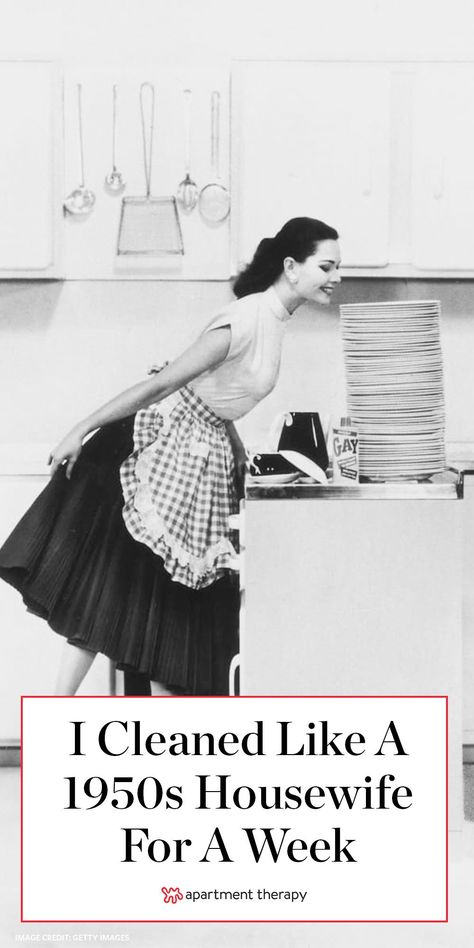 I decided to try a week-long cleaning experiment, to see if I could unlock Grandma's secret to a clean home and how it would fit into my modern lifestyle. House Cleaning Checklist, Clean House Schedule, Weekly Cleaning, Cleaning Schedules, Cleaning Routines, Cleaning Lists, Daily Schedules, 1950s Housewife, Vintage Housewife