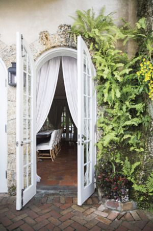 A whimsical front door space. | http://domino.com