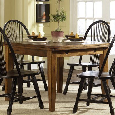 Holsworthy Extendable Dining Table Shaker Style Extendable Informal Inviting Dining Table Rustic Dining Table Legs Dining Room Sets