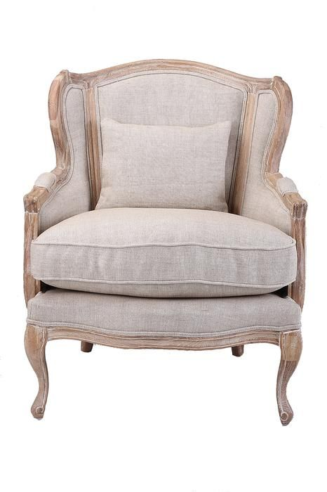 Hector French Provincial Wingback Fabric Armchair With Images