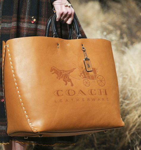 Coach 1941 fall 2017 ready-to-wear accessories photos - vogue big bags, Hermes Handbags, Coach Handbags, Coach Purses, Tote Handbags, Purses And Handbags, Tote Bags, Coach Bags, Leather Handbags, Leather Bag