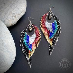 Pfau inspirierte Ohrringe