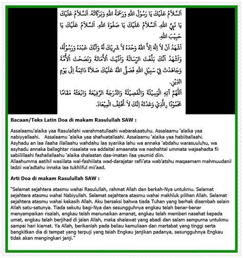Doa Salam Ketika Berada Di Makam Rasulullah Saw Arab Latin