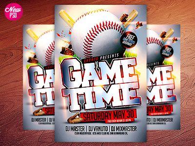 Baseball PSD Flyer Template Psd flyer templates, Flyer template - baseball flyer
