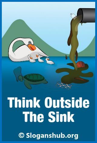 water pollution think outside the sink